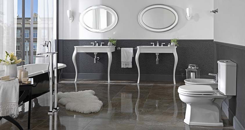 Bathroom ideas inspirations porcelanosa los angeles for Deco salle de bain gris et blanc