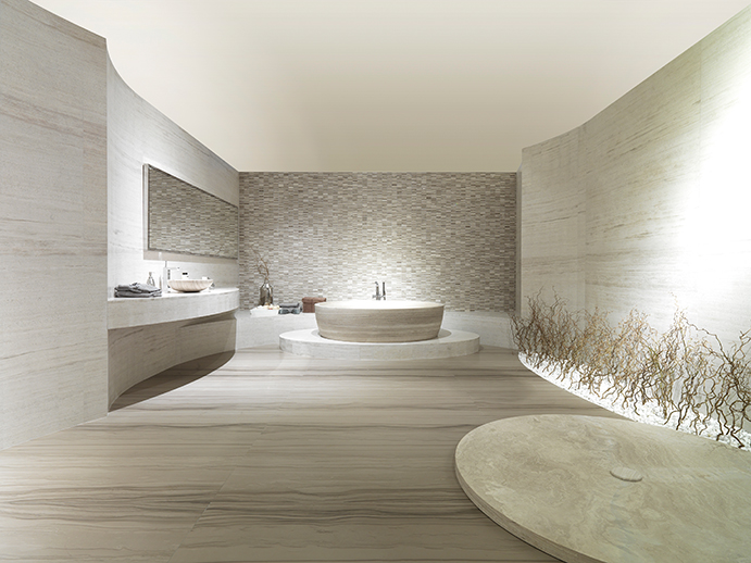Pocelanosa Bathroom at Cosmos Flooring Los Angeles 2014-A