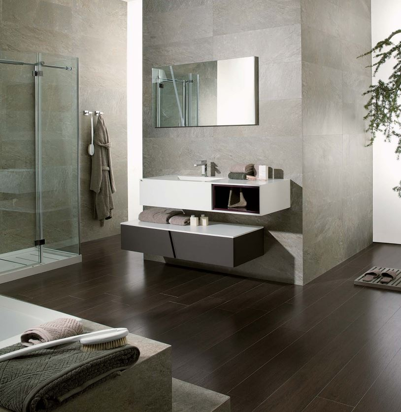 Pocelanosa Bathroom at Cosmos Flooring Los Angeles 2014