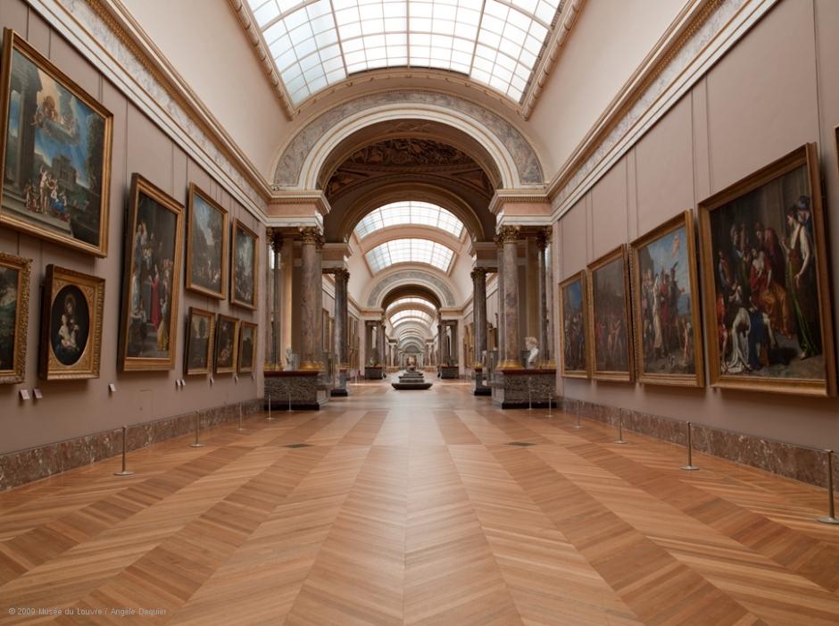 louvre-grande-galerie-Chevron Flooring
